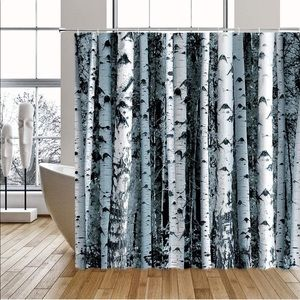 Other - Birch Wood Trees Shower Curtain